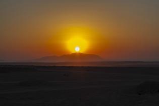 Sharm'el'Sheikh Wüste, Sonnenaufgang