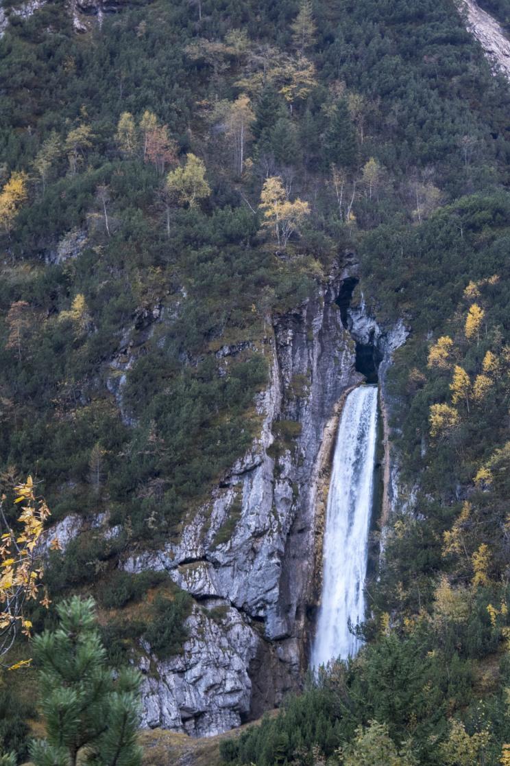Wasserfall an der Reintalangerhütte