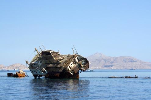 Wrack am Roten Meer, Sharm'el'Sheikh 2015