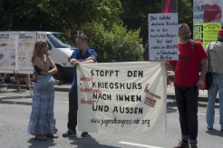 Banner - Stoppt den Kriegskurs