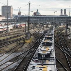 Sicht zum Hauptbahnhof